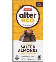 Alter Eco Dark Chocolate Almond (12x2.82OZ )