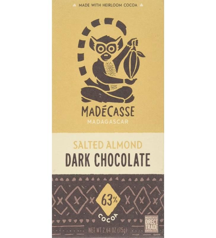 Madecasse Dark Chocolate 63% Salted Almond (10x2.64 OZ)
