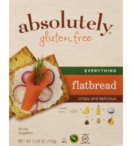 ABSOLUTELY GLUTEN FREE FLATBREAD GF EVERYTHING, 5.29 Ounce, Pack of 12